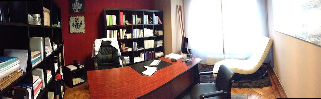 Fotografía panorámica del despacho
